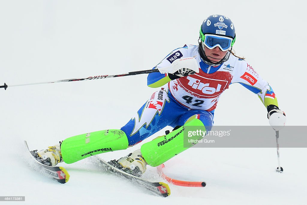 <a gi-track='captionPersonalityLinkClicked' href=/galleries/search?phrase=Marusa+Ferk&family=editorial&specificpeople=4157323 ng-click='$event.stopPropagation()'>Marusa Ferk</a> of Slovenia competes during the FIS Alpine Ski Europa Cup Women's Slalom on January 21, 2014 in Kirchberg, Austria.