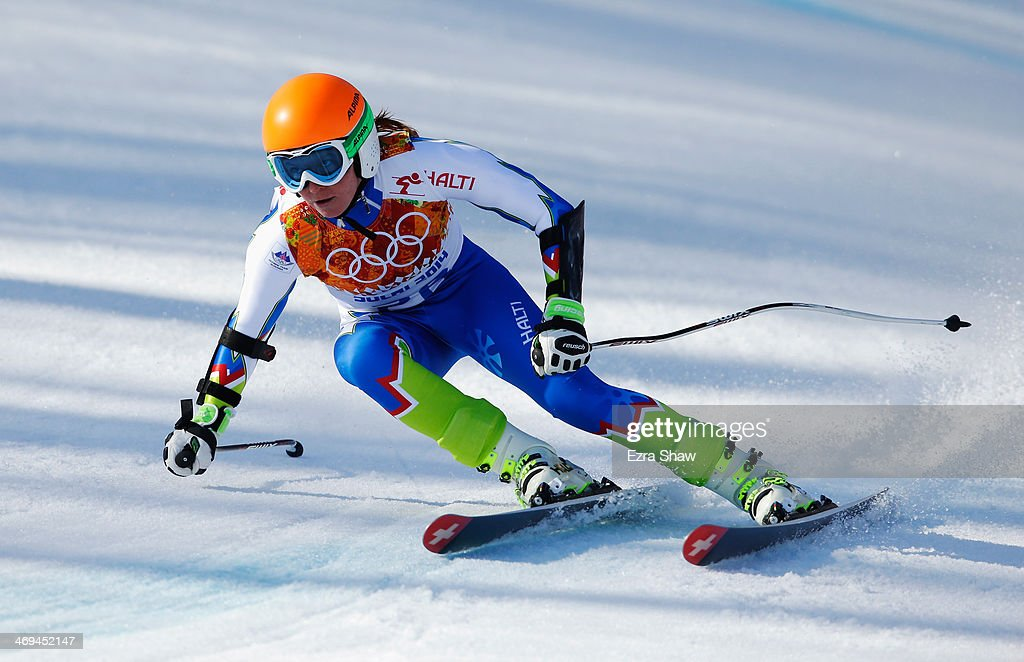 <a gi-track='captionPersonalityLinkClicked' href=/galleries/search?phrase=Marusa+Ferk&family=editorial&specificpeople=4157323 ng-click='$event.stopPropagation()'>Marusa Ferk</a> of Slovenia in action during the Alpine Skiing Women's Super-G on day 8 of the Sochi 2014 Winter Olympics at Rosa Khutor Alpine Center on February 15, 2014 in Sochi, Russia.