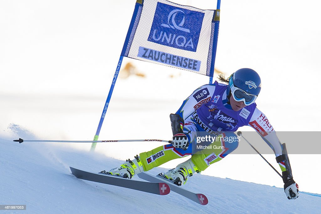 <a gi-track='captionPersonalityLinkClicked' href=/galleries/search?phrase=Marusa+Ferk&family=editorial&specificpeople=4157323 ng-click='$event.stopPropagation()'>Marusa Ferk</a> of Slovenia races down the course whilst competing in Super G part of the FIS Alpine World Cup Super Combined race on January 12, 2014 in Zauchensee, Austria.