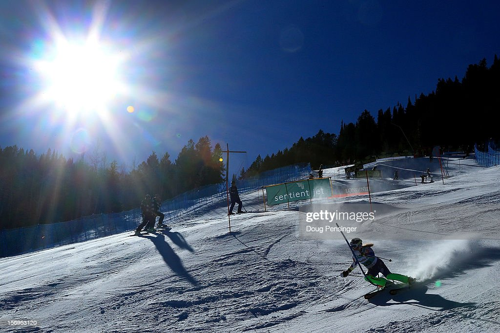 <a gi-track='captionPersonalityLinkClicked' href=/galleries/search?phrase=Marusa+Ferk&family=editorial&specificpeople=4157323 ng-click='$event.stopPropagation()'>Marusa Ferk</a> of Slovenia skis the first run of the women's slalom at the Nature Valley Aspen Winternational Audi FIS Ski World Cup at Aspen Mountain on November 25, 2012 in Aspen, Colorado.