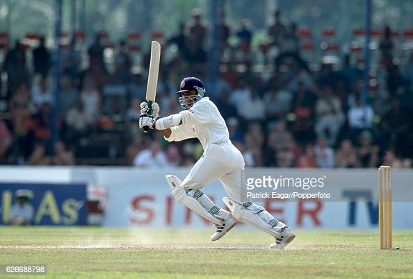 Marvan Atapattu batting for Sri Lanka during his innings of 201 not out in the 1st Test match between Sri Lanka and England at Galle International...