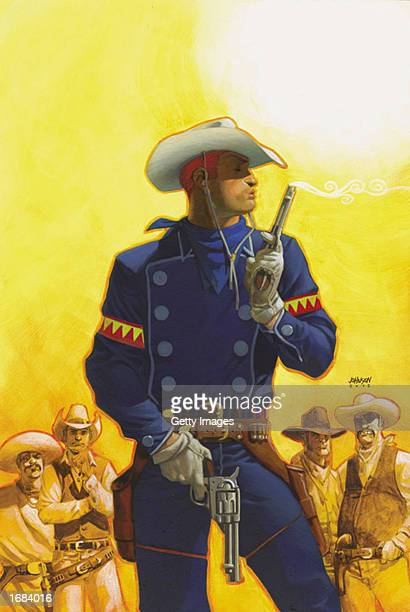 Marvel Comics' first openly gay comic book character based on the revival of the 1950s title 'The Rawhide Kid' is shown December 11 2002 The...