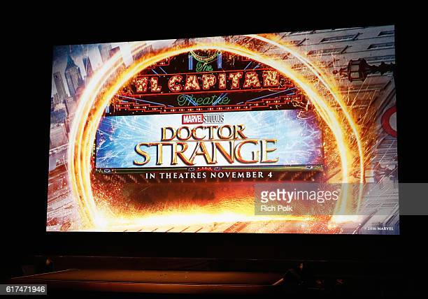 Marvel fan families and kids attend a special screening of Marvel Studios' 'DOCTOR STRANGE' in 3D hosted by Stan Lee at the El Capitan Theatre on...