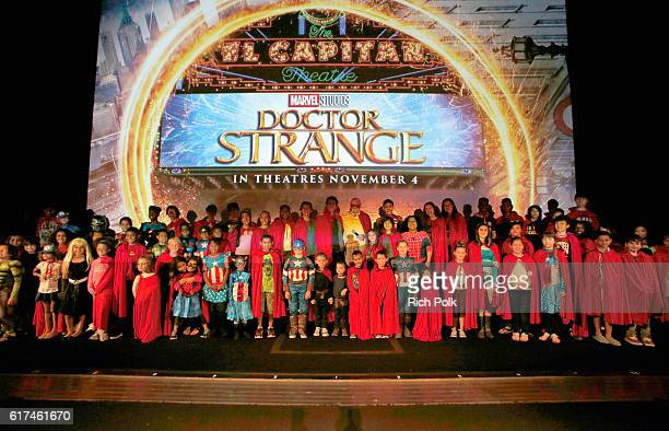 Marvel fans and Disney Channel talent attend a special screening of Marvel Studios' 'DOCTOR STRANGE' in 3D hosted by Stan Lee at the El Capitan...