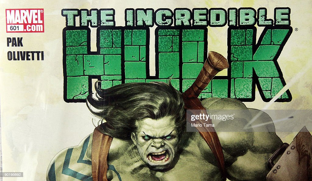 A Marvel Incredible Hulk comic book is seen for sale at St. Mark's Comics August 31, 2009 in New York City. The Walt Disney Co. announced that it plans to acquire Marvel Entertainment Inc. for $4 billion in stock and cash, bringing 5,000 Marvel characters including Spider Man and Incredible Hulk under the Disney umbrella.