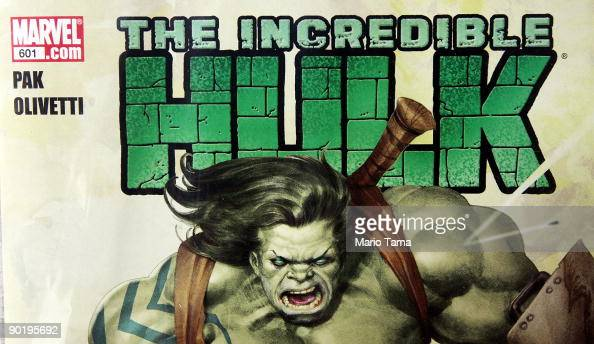 Marvel Incredible Hulk comic book is seen for sale at St Mark's Comics August 31 2009 in New York City The Walt Disney Co announced that it plans to...
