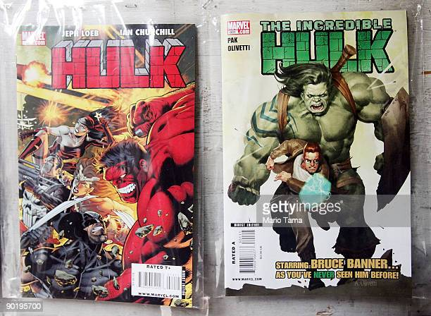 Marvel Incredible Hulk comics are seen for sale at St Mark's Comics August 31 2009 in New York City The Walt Disney Co announced that it plans to...