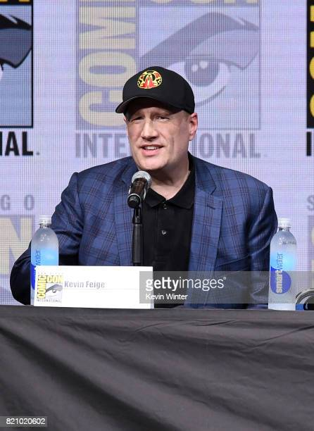 Marvel Studios President Kevin Feige at ComicCon International 2017 Marvel Studios Presentation at San Diego Convention Center on July 22 2017 in San...