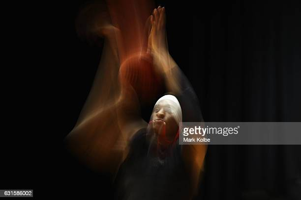 Marvelle Harris of the Hawks shoots during the warmup ahead of the round five NBL match between the Illawarra Hawks and the Brisbane Bullets at WIN...