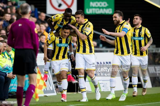 Marvelous Nakamba of Vitesse Navarone Foor of Vitesse Matt Miazga of Vitesse Guram Kashia of Vitesse Nathan de Souza of Vitesseduring the Dutch...