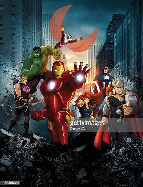 S AVENGERS ASSEMBLE 'Marvel's Avengers Assemble' reunites the most popular super hero team Iron Man Hulk Captain America Thor Hawkeye and Black Widow...