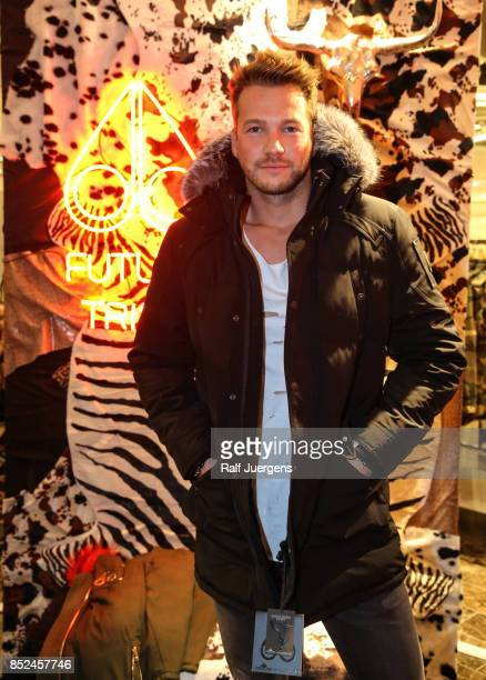Marvin Albrecht poses during the store event 'Moose Knuckles at Breuninger The Future Tribe Party' on September 23 2017 in Duesseldorf Germany