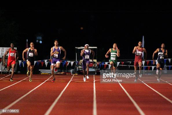 Marvin BienAime of Abilene Christian takes 1st place in the men's 200 meter race in a time of 2098 at the 2005 NCAA Division II Outdoor Track and...