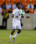 Marvin Chavez of Honduras against Ecuador during an international friendly match at BBVA Compass Stadium on November 19 2013 in Houston Texas