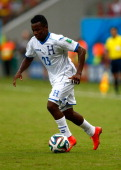 Marvin Chavez of Honduras controls the ball during the 2014 FIFA World Cup Brazil Group E match between Honduras and Switzerland at Arena Amazonia on...