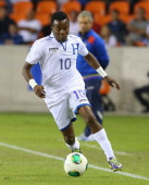 Marvin Chavez of Honduras during an international friendly match at BBVA Compass Stadium on November 19 2013 in Houston Texas