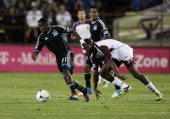 Marvin Chavez of San Jose Earthquakes during a match against the Colorado Rapids at Buck Shaw Stadium on August 25 2012 in Santa Clara California