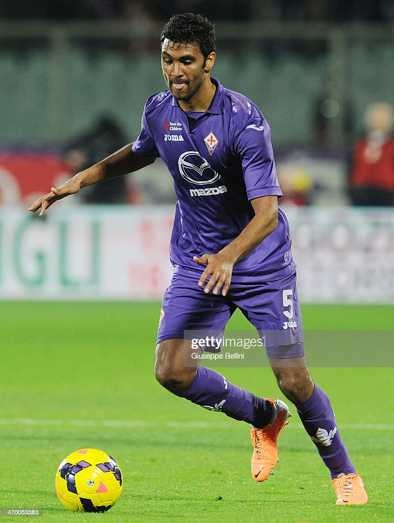 Marvin Compper of Fiorentina in action during the Serie A match between ACF Fiorentina and FC Internazionale Milano at Stadio Artemio Franchi on February 15, 2014 in Florence, Italy.