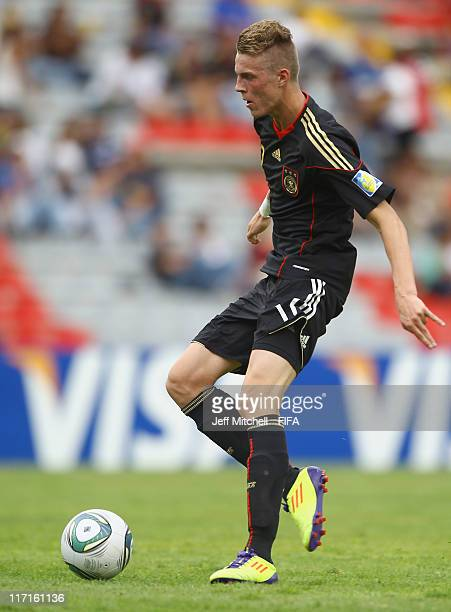 Marvin Ducksch of Germany in action during the Group E FIFA U17 World Cup match between Burkina Faso and Germany at the Corregidora Stadium on June...
