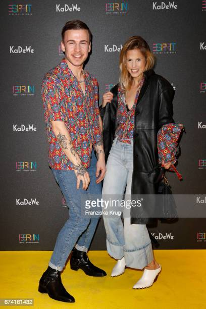 Marvin Dvorak and AnnKathrin Grebner attend the KaDeWe Launch Event 'Esprit by Opening Ceremony' on April 27 2017 in Berlin Germany