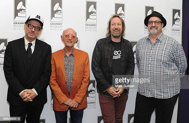 Marvin Etzioni Jack Oliver Brian Kehew and Dave Kent pose before The Record Theater Beatles Second Album at The GRAMMY Museum on June 3 2014 in Los...