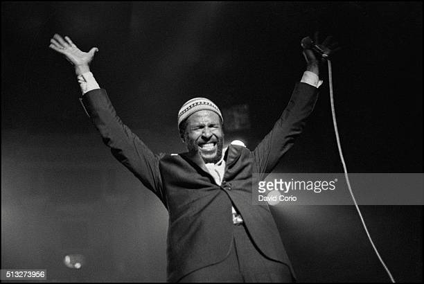 Marvin Gaye performing at the Royal Albert Hall London UK 25 January 1980