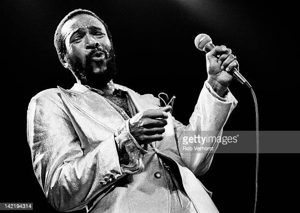 Marvin Gaye performs on stage at De Doelen Rotterdam Netherlands 1st July 1980