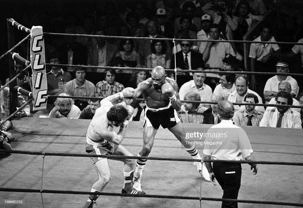 Marvin Hagler lands a right hook against Vito Antuofermo during the fight at the Boston Garden on June 13 1981 in Boston Massachusetts Marvin Hagler...