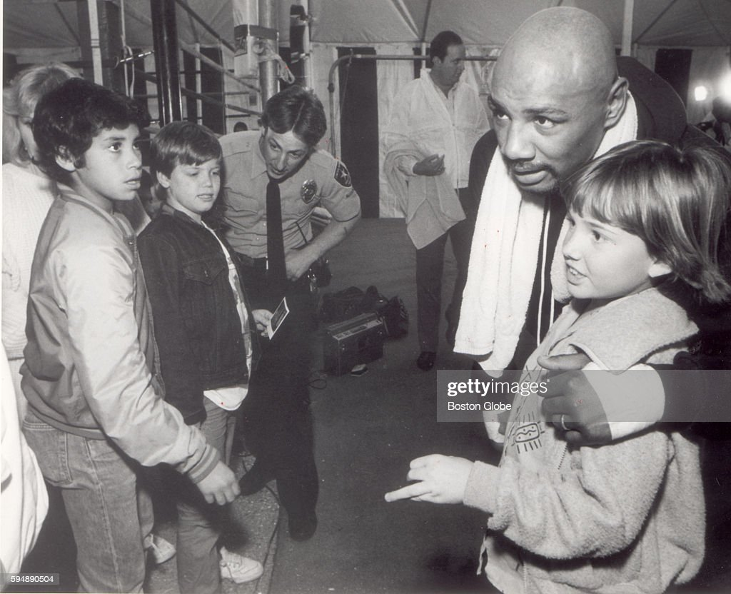 Marvin Hagler's training camp in Palm Springs Calif on Jan 25 1982