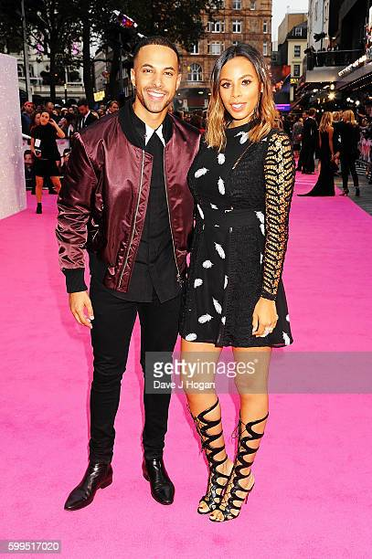 Marvin Humes and Rochelle Humes arrive for the world premiere of 'Bridget Jones's Baby' at Odeon Leicester Square on September 5 2016 in London...