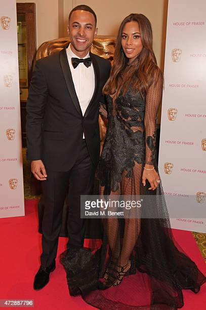 Marvin Humes and Rochelle Humes attend the After Party dinner for the House of Fraser British Academy Television Awards at The Grosvenor House Hotel...