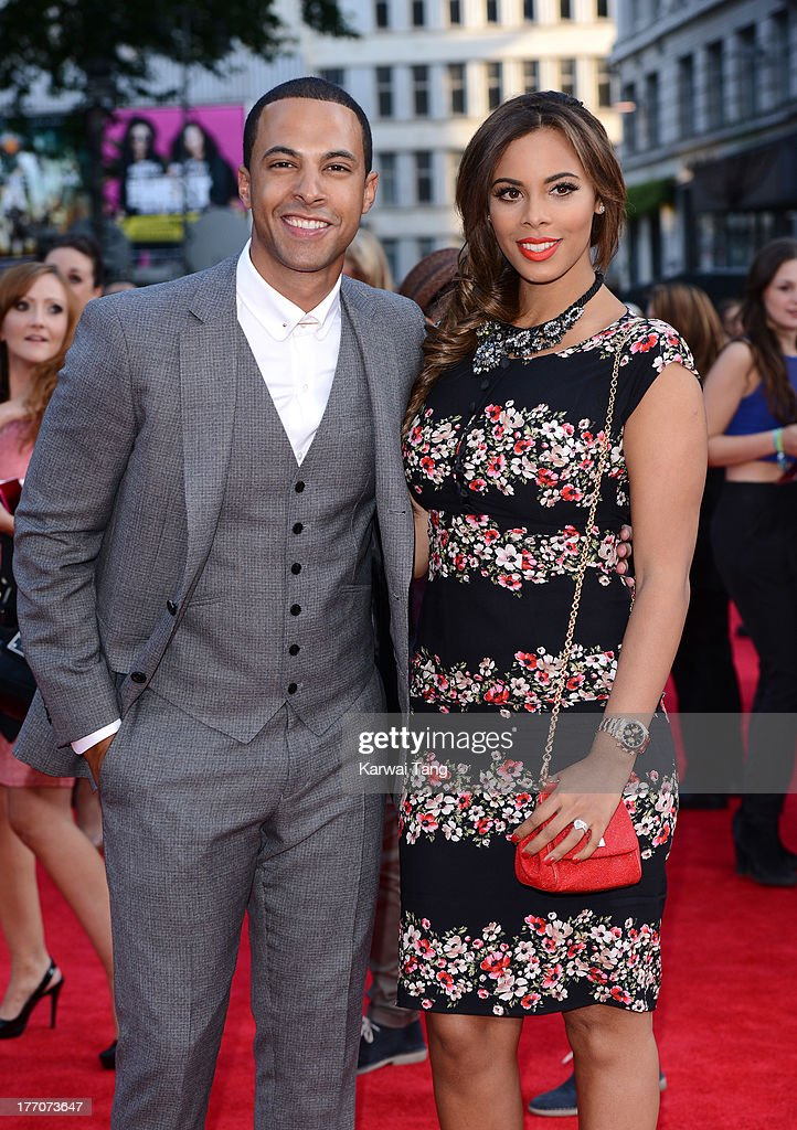 Marvin Humes and Rochelle Humes attend the World Premiere of 'One Direction: This Is Us' at Empire Leicester Square on August 20, 2013 in London, England.