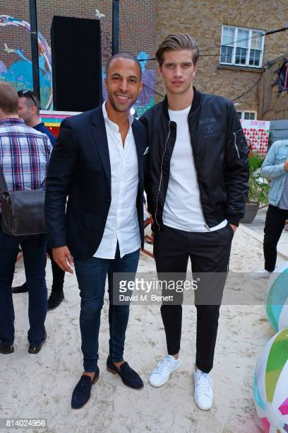 Marvin Humes and Toby HuntingtonWhiteley pictured at the VIP launch of Just Eat Food Fest Desert Island Dishes in Red Market London The threeday...