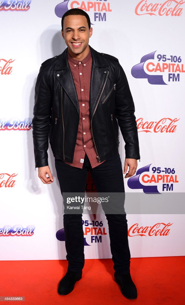 <a gi-track='captionPersonalityLinkClicked' href=/galleries/search?phrase=Marvin+Humes&family=editorial&specificpeople=2887070 ng-click='$event.stopPropagation()'>Marvin Humes</a> attends on day 2 of the Capital FM Jingle Bell Ball at the 02 Arena on December 8, 2013 in London, England.
