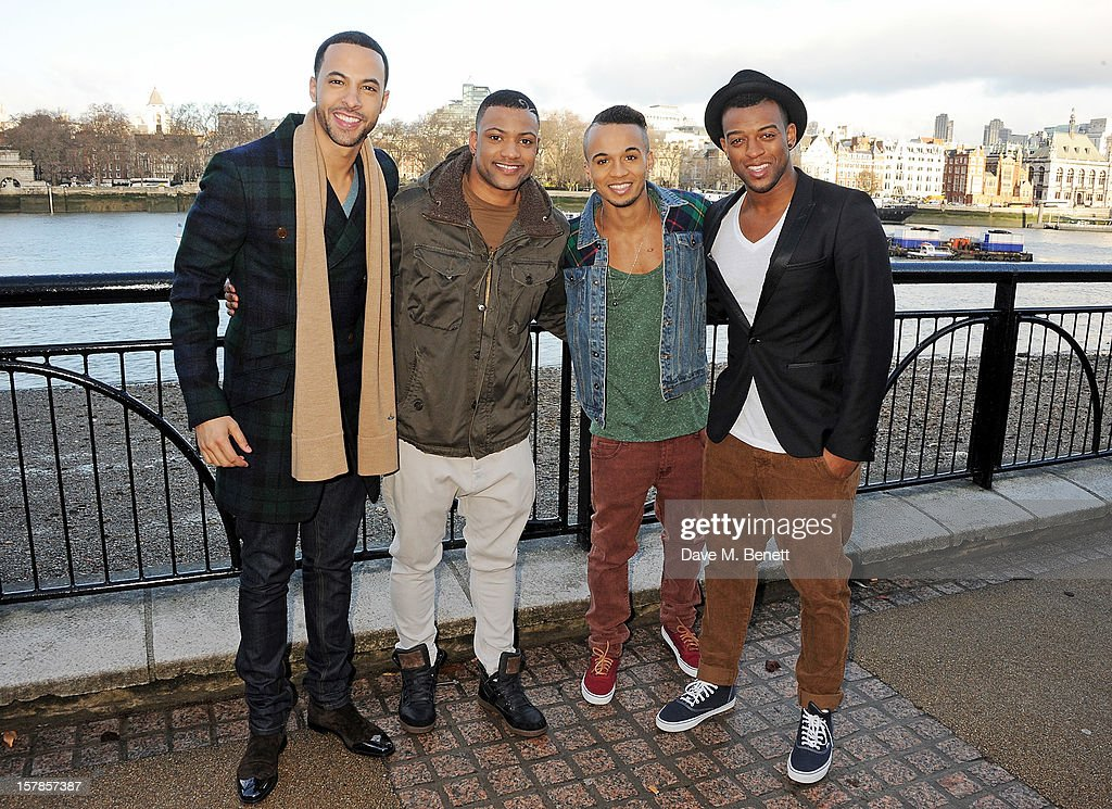 <a gi-track='captionPersonalityLinkClicked' href=/galleries/search?phrase=Marvin+Humes&family=editorial&specificpeople=2887070 ng-click='$event.stopPropagation()'>Marvin Humes</a>, Jonathan 'JB' Gill, <a gi-track='captionPersonalityLinkClicked' href=/galleries/search?phrase=Aston+Merrygold&family=editorial&specificpeople=5739699 ng-click='$event.stopPropagation()'>Aston Merrygold</a> and <a gi-track='captionPersonalityLinkClicked' href=/galleries/search?phrase=Oritse+Williams&family=editorial&specificpeople=5739700 ng-click='$event.stopPropagation()'>Oritse Williams</a> of JLS pose to launch the JLS Foundation supporting Cancer Research UK, to coincide with Childhood Cancer Awareness month, on the South Bank on December 7, 2012 in London, England.