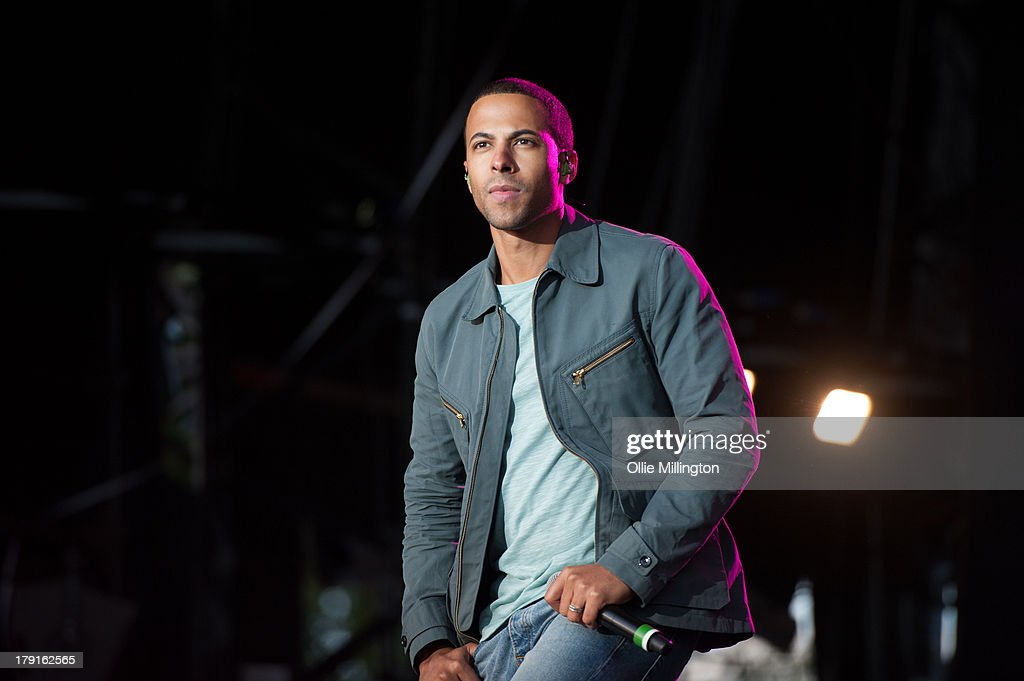<a gi-track='captionPersonalityLinkClicked' href=/galleries/search?phrase=Marvin+Humes&family=editorial&specificpeople=2887070 ng-click='$event.stopPropagation()'>Marvin Humes</a> of JLS performs on stage on Day 1 of Fusion Festival 2013 at Cofton Park on August 31, 2013 in Birmingham, England.