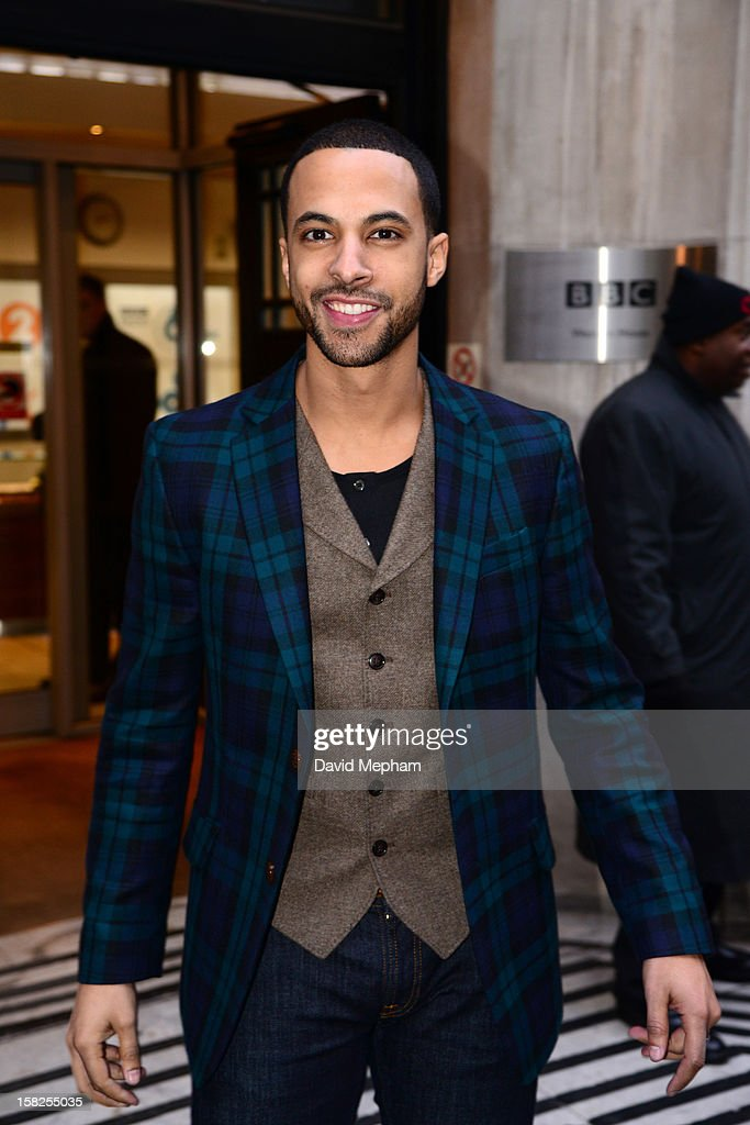 Marvin Humes of <a gi-track='captionPersonalityLinkClicked' href=/galleries/search?phrase=JLS&family=editorial&specificpeople=5624188 ng-click='$event.stopPropagation()'>JLS</a> visits BBC Radio Two on December 12, 2012 in London, England.