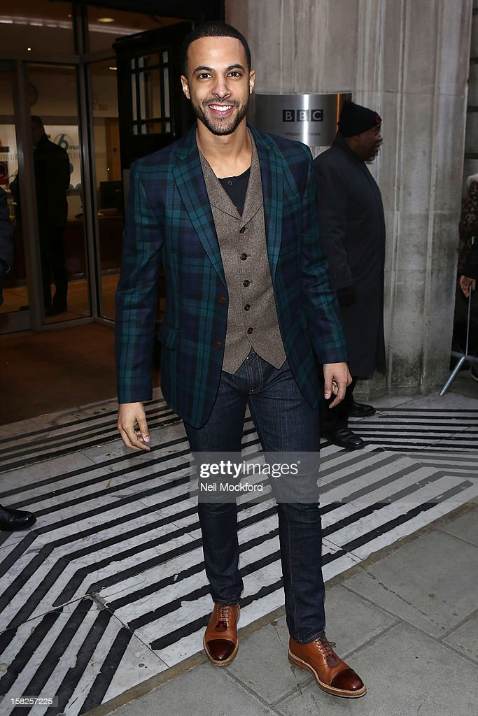 Marvin Humes seen at BBC Radio Two on December 12, 2012 in London, England.