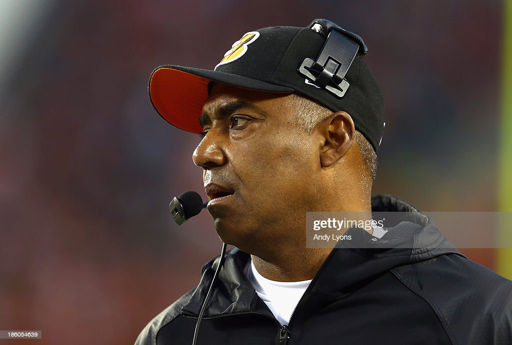Marvin Lewis the head coach of the Cincinnati Bengals watches the action during the NFL game against the New York Jets at Paul Brown Stadium on October 27, 2013 in Cincinnati, Ohio.