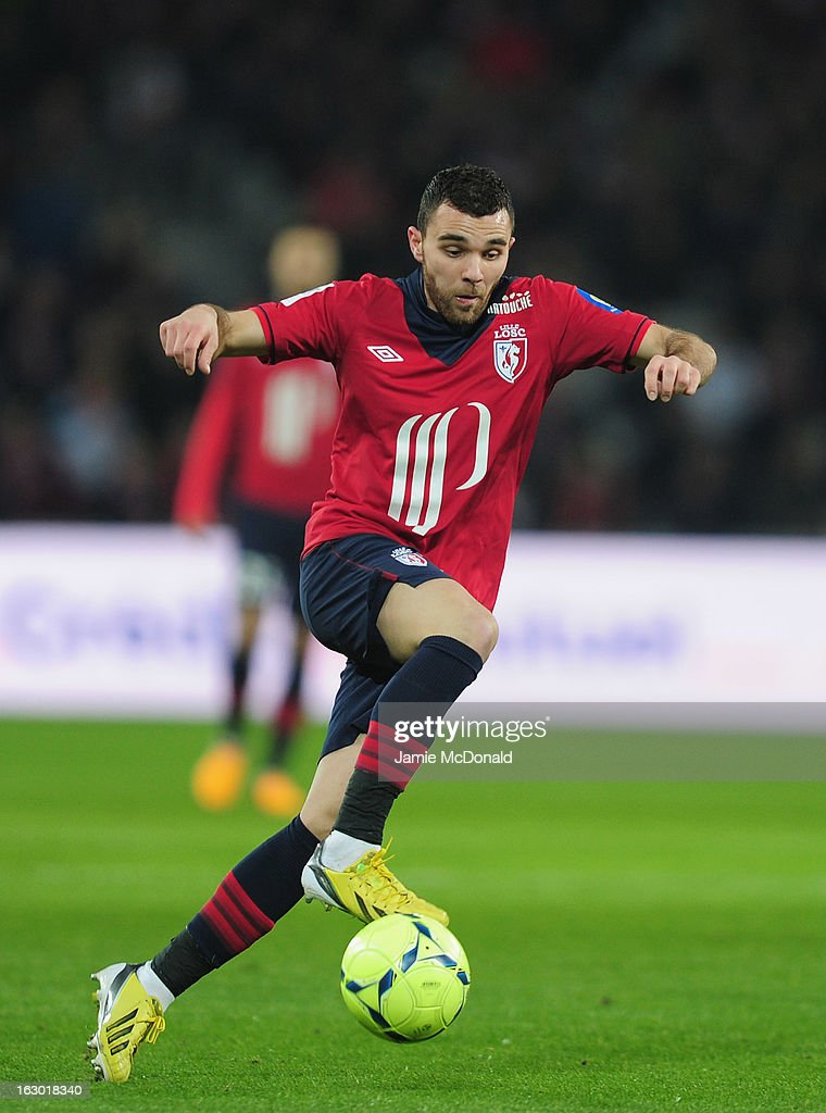 <a gi-track='captionPersonalityLinkClicked' href=/galleries/search?phrase=Marvin+Martin&family=editorial&specificpeople=5534442 ng-click='$event.stopPropagation()'>Marvin Martin</a> of Lille in action during the Ligue 1 match between LOSC Lille Metropole v FC Girondins de Bordeaux at the Grand Stade Lille-Metropole on March 3, 2013 in Lille, France.