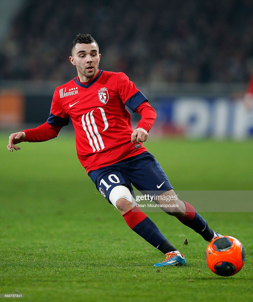 <a gi-track='captionPersonalityLinkClicked' href=/galleries/search?phrase=Marvin+Martin&family=editorial&specificpeople=5534442 ng-click='$event.stopPropagation()'>Marvin Martin</a> of Lille in action during the Ligue 1 match between LOSC Lille and Olympique de Marseille held at Stade Pierre-Mauroy on December 3, 2013 in Lille, France.