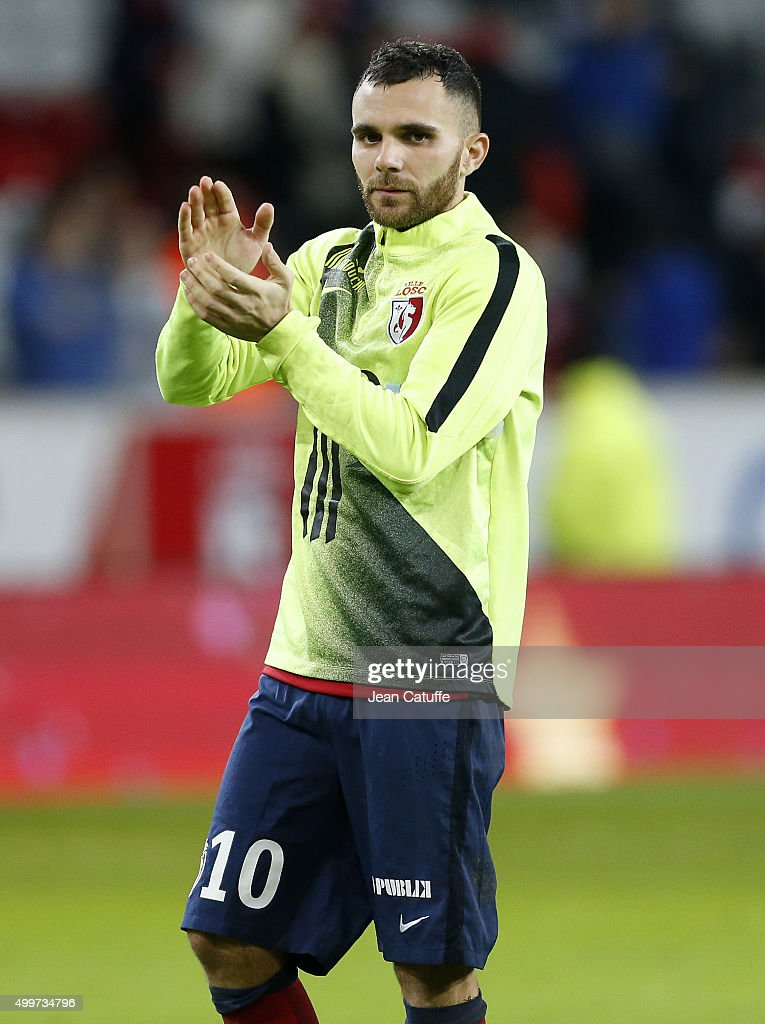 <a gi-track='captionPersonalityLinkClicked' href=/galleries/search?phrase=Marvin+Martin&family=editorial&specificpeople=5534442 ng-click='$event.stopPropagation()'>Marvin Martin</a> of Lille thanks the supporters after the French Ligue 1 match between Lille OSC (LOSC) and AS Saint-Etienne (ASSE) at Stade Pierre Mauroy on December 2, 2015 in Lille, France.