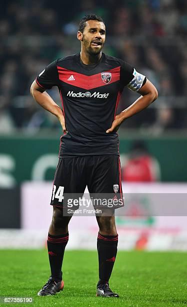 Marvin Matip captain of Ingolstadt looks dejected during the Bundesliga match between Werder Bremen and FC Ingolstadt 04 at Weserstadion on December...