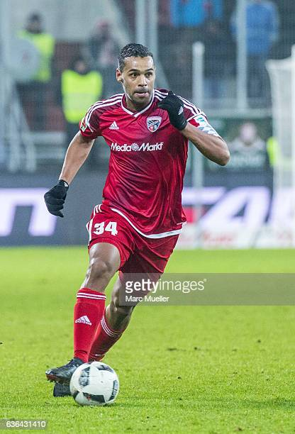 Marvin Matip of FC Ingolstadt 04 with ball during the Bundesliga match between FC Ingolstadt 04 and SC Freiburg at Audi Sportpark on December 21 2016...