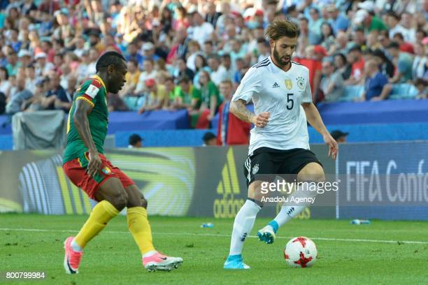 Marvin Plattenhardt of Germany in action against Christian Bassogog of Cameroon during the FIFA Confederations Cup 2017 soccer match between Cameroon...