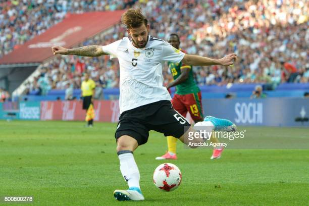 Marvin Plattenhardt of Germany in action during the FIFA Confederations Cup 2017 soccer match between Cameroon and Germany in Sochi Russia on June 25...