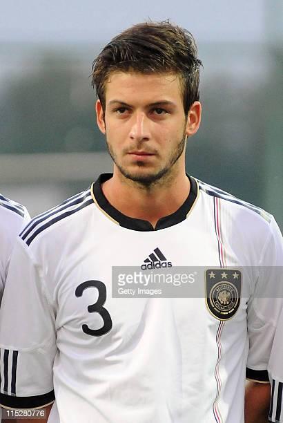 Marvin Plattenhardt of Germany poses prior the UEFA U19 European Championship match between Germany and Turkey on June 5 2011 in Antalya Turkey
