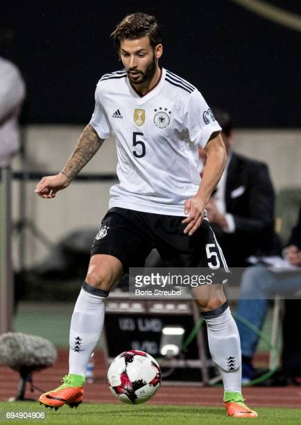 Marvin Plattenhardt of Germany runs with the ball during the FIFA 2018 World Cup Qualifier between Germany and San Marino at Stadion Nuernberg on...