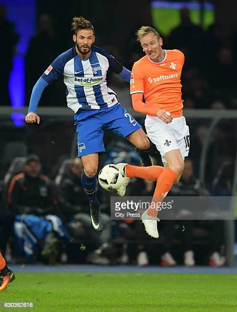 Marvin Plattenhardt of Hertha BSC and Jan Rosenthal of SV Darmstadt 98 during the game between Hertha BSC and SV Darmstadt 98 on december 21 2016 in...