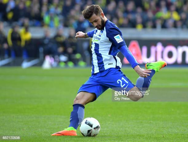 Marvin Plattenhardt of Hertha BSC during the Bundesliga match between Hertha BSC and Borussia Dortmund at the Olympiastadion on march 11 2017 in...